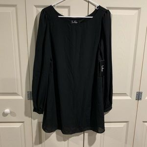 NWT Lulu's Size Small black sheer tunic top